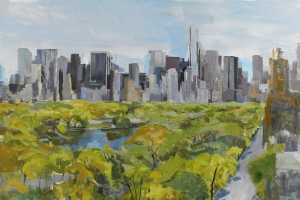 Late Spring in Manhattan, 10th  May 2013 Oil on linen 61 x 91.4 cm (24 x 36 in)