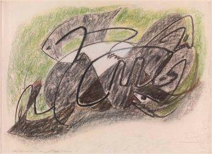 André Masson, Chevaux dévorés, 1929 Signed lower left: André Masson Pastel on paper 19,9 x 24,8 in, 50,5 x 63 cm