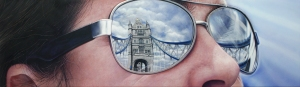 Simon Hennessey An Alternative View of Tower Bridge 35 x 122 cm Acrylic on canvas Plus One Gallery B46