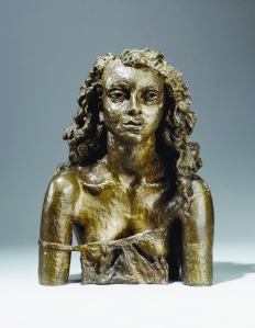 Jacob Epstein (1880-1959) Second Portrait of Deirde 1941-2