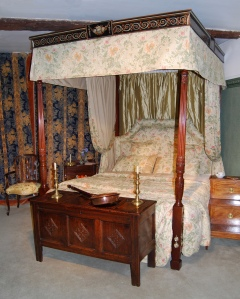 George III period mahogany four-poster bed from W.H. Harvey