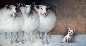Manuel Lopez Herrera Title: 'The Boss' Medium: Oil on Board Size: 27 ½ x 51 ¼ ins / 70 x 130 cm Lucy B Campbell Fine Art