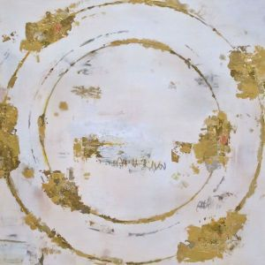 Fiumano Fine Art Takefumi Hori: Circle XXVIII Gold, metal leaf and acrylic on canvas, 60 x 60 cm
