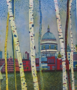 Halfmoon Studio Karen Keogh: St Paul's by Twilight, Etching, 60 x 50cm