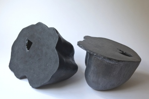 Gordon Baldwin, Klee Cloud Vessell III and VI, 2009, Ceramic, 32 x 42 x 30 cm, courtesy of Marsden Woo Gallery and curated by Sarah Myerscough Gallery