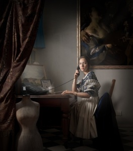 Maisie Broadhead, Speaking at a Machine, 2013, Digital C-Type print, 90 x 80 cm, edition of 12 Courtesy of Sarah Myerscough Gallery