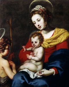 Lorenzo Lippi (1606-1656) Madonna and Child with the Infant St. John the Baptist Oil on canvas, 109 x 72.5 cm Moretti Fine Art