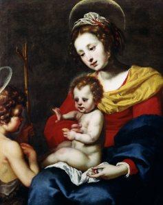 Lorenzo Lippi (1606-1656) Madonna and Child with the Infant St. John the Baptist Oil on canvas, 109 x 72.5 cm Moretti Fine Art