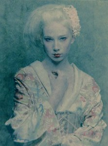 Vernissage London Adam Lach-Lunaris: Geisha While - Studium I, C-type photograph, diasec on aluminium, 100 x 74cm