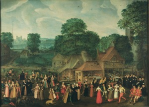 A Fête at Bermondsey by Joris Hoefnagel, c.1569–70, Reproduced by permission of the Marquess of Salisbury, Hatfield House