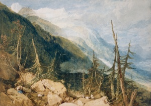 1809 Valley of Chamonix, France, Mont Blanc in the Distance
