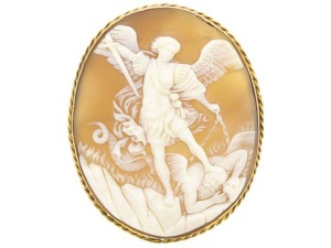 Antique Cameo Shell Brooch from Berganza