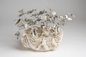 Butterfly Garden, 2013, porcelain and black stain, edition of 10, by Katherine Morling from Long & Ryle