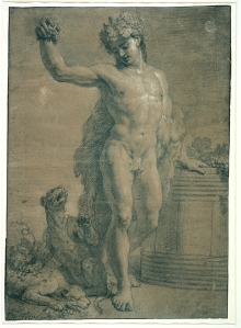 François de Troy, Bacchus, standing face on, late 17th century. © ENSBA, Paris.
