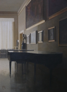 Peter Kelly RBA NEAC The Music Room, Sienna 15 x 10 inches Oil on board £2,400