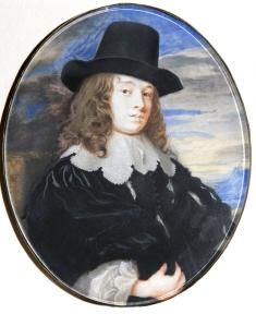 Samuel Cooper, Margaret Lemon, c.1635, Oval, 121 mm (4 ¾)inches high. Fondation Custodia, Paris.