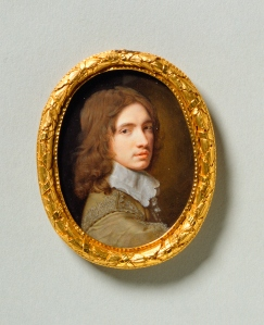 Samuel Cooper, Self-Portrait, 1644, Oval, 74mm (2 7/8 inches) high,  Royal Collection.
