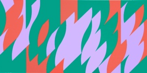 Bridget Riley About Lilac 2007  Edition 75 Screenprint 19 x 31.50 inches