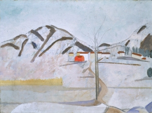 Ben Nicholson, 1921 - circa 1923 (Cortivallo, Lugano), Oil on canvas, 43 x 60 cm, Tate, London 2013 © Angela Verren Taunt 2013. All rights reserved, DACS, Photo © Tate, London 2013