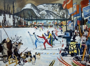 Andrey N. Bliok (born 1946) Fest ival of the North in Kirovsk . 1972 Tempera on canvas. 60 by 80.2 сm Institute of Russian Realist Art