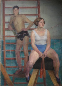 Olga P. Vaulina (1902–1996) In a sports hall. 1930s Oil on canvas. 132 by 101 сm The 'New Gallery' Art Foundation