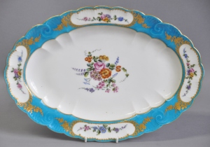 Vincennes porcelain Blue Celeste dish from Louis XV Service