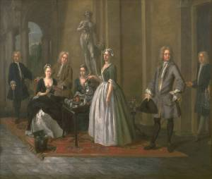 Van Aken, An English family at tea on loan from Tate Britain, image © Tate Britain