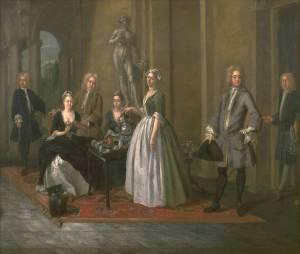 Van Aken, An English family at tea on loan from Tate Britain, image © Tate Britain