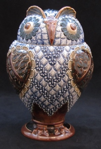 Doulton Lambeth lidded jar, c1890, £1,550 from AD Antiques