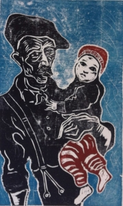 Billy Childish (b. 1959) With Scout Woodcut edition of 31 56 x 76 cm £695 Lilford Gallery