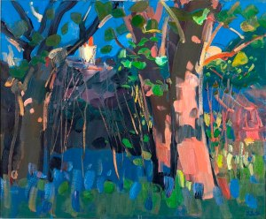 "James Fullarton, 'Bluebells in the Garden', 36"" x 30"", £9,000"