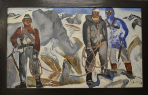 Vitali Tyulenyev 1937-1997 ''Climbing in the High Caucasus '', 1968 oil on canvas 95 x 115 cm Priced about £12,500