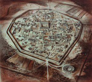 Alan Sorrell - Roman Silchester copyright Sir John Soane's Museum