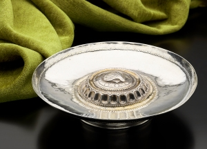 16th century Portuguese or Spanish parcel gilt footed silver salver, £35,000 from Mayflower Antiques
