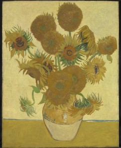 NG 3863 Vincent van Gogh (1853 – 1890) Sunflowers, 1888 Oil on canvas 92.1 x 73 cm Bought, Courtauld Fund, 1924  © National Gallery, London