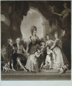 The Marlborough Family Mezzotint engraving by Charles Turner from a painting by Sir Joshua Reynolds Published 24th October, 1815 by C.Turner, No 50 Warren Street, Fitzroy Square Image size: 29 3/4 x 26 1/4 in / 75.5 x 67 cm Price £2,350 Dealer: Nicholas Price