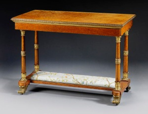 A Highly Important & Rare Royal Writing Table made by Morel & Seddon for the Windsor Castle Commission, commanded by George IV Dimensions: H: 30.5 in / 77 cm W: 43 in / 108 cm D: 22.5 in / 57 cm