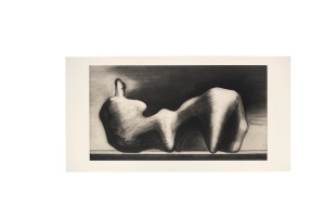 Lot 91 Henry Moore (1898-1986) Stone reclining figure etching and aquatint 1980 Magnani paper initialled in pencil, inscribed bon à tirer edition size: ten numbered impressions and four artist's proofs published by 2RC Edizioni d'Arte, Rome, printed by Vigna Antoniniana, Rome, with their blindstamp Image: 990 x 1840 mm., Sheet: 1200 x 2330 mm. Estimate 8,000 - 12,000 British pounds