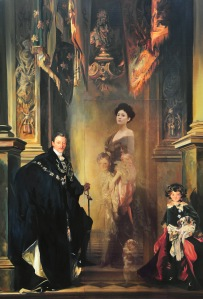Bae Joonsung The Costume of Painter - Phantom in the Painting, J.S.Sargent family jk  lenticular and oil on canvas 194 x 130 cm (76 x 51 in) Courtesy of the Albemarle Gallery