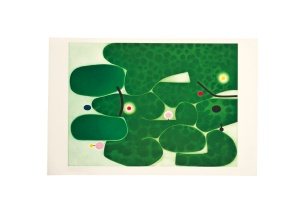 Lot 63  Victor Pasmore (1908-1998) Vigna Antoniniana etching and aquatint in colours 1980 Magnani paper signed in pencil, inscribed Bon a tirer and more white edition size: 90 numbered impressions and 15 artist's proofs co-published by 2RC Edizioni d'Arte, Rome, with their blindstamp, and Marlborough Fine Art Ltd., London, printed by Vigna Antoniniana, Rome, with their blindstamp