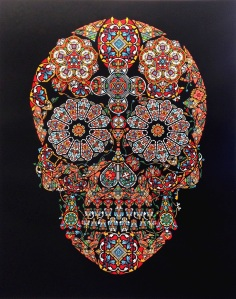 Jacky Tsai  Stained Glass Skull, 2013 Edition of 60 6 colour screenprint on Somerset Satin 410 gsm paper 85(w) x 110(h) cm Eyestorm