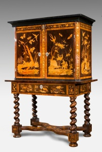Intricate Flemish Cabinet from Alton Towers, seat of Lord Shrewsbury