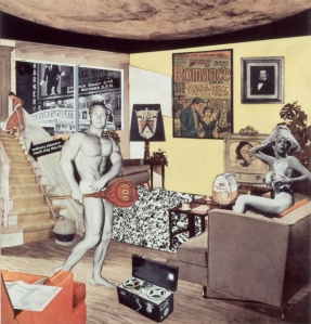 Richard Hamilton (1922-2011) Just what is it that makes today's homes so different,so appealing? 1956, reconstructed in 1992 Cibachrome Collage 26 x 25 cm Private collection © The estate of Richard Hamilton