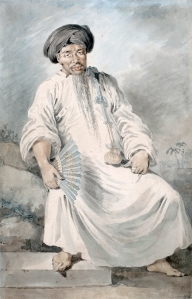 WILLIAM ALEXANDER (1767-1816) AN INFERIOR MANDARIN OF TURON BAY SIGNED WITH INITIALS WATERCOLOUR WITH BODYCOLOUR 14 3/4 X 9 1/2 INCHES