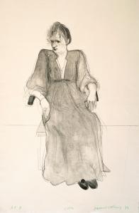 "David Hockney,  Celia, 1973,  Lithograph, 42 3/4"" x 28 1/2"" ED: 52,  © David Hockney / Gemini G.E.L."