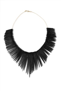BLACK DIAMOND FEATHER COLLAR JACQUELINE CULLEN