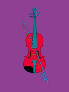 Violin (Chatsworth), 2014 Screenprint on410gsm Somerset Satin paper Paper 60 x 46 cm / Image 49 x 37 cm Edition of 40 Courtesy the artist and Alan Cristea Gallery
