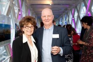 Nanette Newman at launch of 'The Sixties'  at Tower Bridge, with David Wight, Visitor Development and Services Director, City of London Corp.