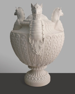 Antique Vase with Three Griffin Heads © factumArte