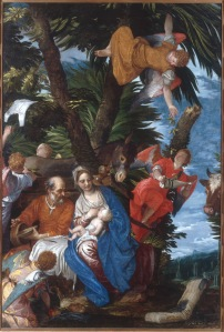 Paolo Veronese (1528-1588) The Rest on the Flight into Egypt, about 1570-2 Oil on canvas 236.2 x 161.3 cm Frame: 281.3 x 205.4× 11.4 cm © Collection of The John and Mable Ringling Museum of Art, the State Art Museum of Florida, Florida State University, Sarasota Florida (SN82)
